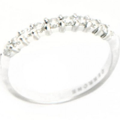 18ct white gold Cerrone diamond half eternity ring