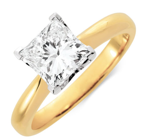 princess cut 1 50 carat michael hill diamond ring  5895 princess cut ...